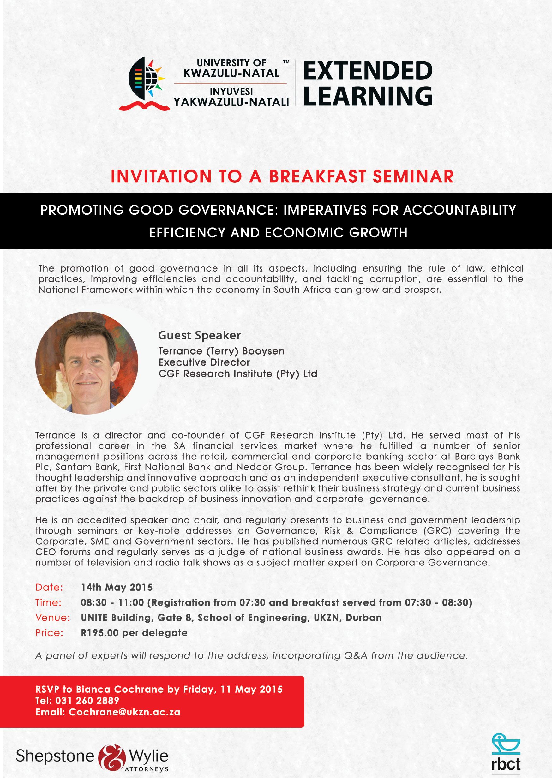 news > Extended Learning Invitation: Breakfast Seminar ...